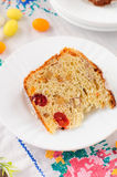 A Slice of Kulitch (Kulich), Russian Easter Sweet Bread Royalty Free Stock Images