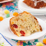 A Slice of Kulitch (Kulich), Russian Easter Sweet Bread Stock Image