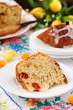 A Slice of Kulitch (Kulich), Russian Easter Sweet Bread Royalty Free Stock Image