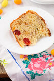 A Slice of Kulitch (Kulich), Russian Easter Sweet Bread Royalty Free Stock Photos