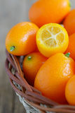 A slice kumquat Royalty Free Stock Photos