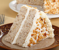 Slice of Layer Cake Stock Image