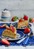 Slice of layer cake Napoleon Royalty Free Stock Photography