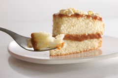 Slice of layered cake Royalty Free Stock Images