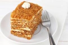Slice of layered cake Royalty Free Stock Photography