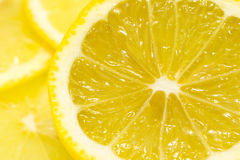 Slice of lemon. Have juice Royalty Free Stock Images