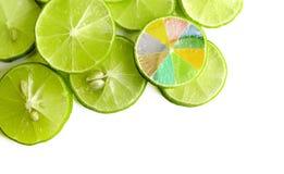 Slice of lemon. On white background Royalty Free Stock Image