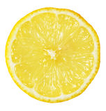 Slice of lemon. On white with path Royalty Free Stock Photo