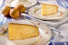 Slice of lemon cake Stock Photo