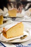 A slice of lemon cake Stock Image