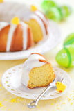 Slice of lemon cake Royalty Free Stock Image