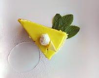 Slice of lemon cake Stock Images