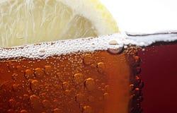 Slice of lemon and coke Stock Photography