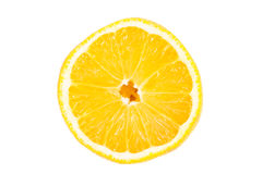 Slice of lemon fruit isolated Stock Photos