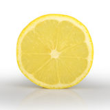 Slice of lemon isolated on white background Stock Image