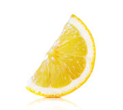 Slice lemon isolated on the white background Stock Photography