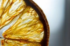 Slice lemon macro Royalty Free Stock Image
