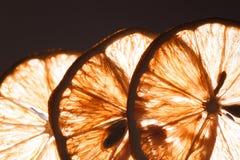 Slice lemon macro Stock Photo