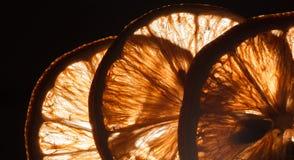 Slice lemon macro Stock Photography