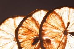 Slice lemon macro Stock Image