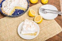 Slice of lemon meringue pie Stock Photography