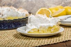 Slice of lemon meringue pie Royalty Free Stock Images