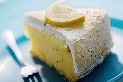 Slice of lemon pie stock image