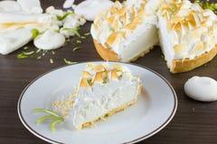 Slice of lemon pie Stock Photo