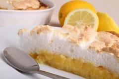 Slice of lemon tart Royalty Free Stock Photo