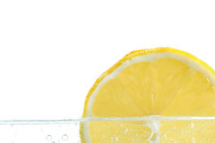 Slice of lemon in water Stock Image