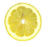 A slice of lemon. On a white background Royalty Free Stock Photo