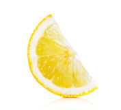 Slice lemon  on the white background Stock Images