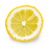 Slice of lemon on white background Stock Image