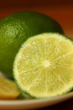 Slice of lime closeup Royalty Free Stock Photo