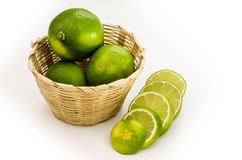 Slice lime Royalty Free Stock Images