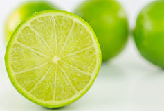 Slice of Lime Fruit Stock Photo