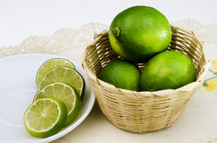 Slice lime Stock Photo