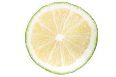 Slice of lime. isolated Royalty Free Stock Photos