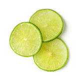 Slice lime. Isolated on white background Stock Images