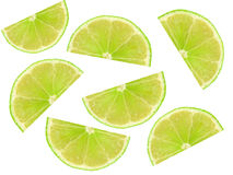 Slice of lime Stock Image
