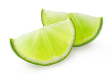 Slice of lime. On white background Stock Photo