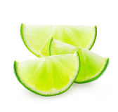 Slice of lime Royalty Free Stock Image