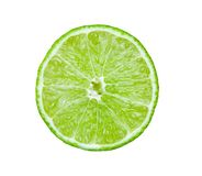 Slice of lime on white background Royalty Free Stock Image