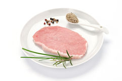 Slice loin of pork Royalty Free Stock Photography