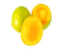 Slice Mango Royalty Free Stock Images