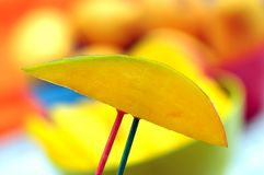 Slice of mango Royalty Free Stock Image