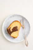 Slice of marble cake Royalty Free Stock Image