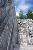 Slice of marble rocks. Marble quarry Stock Photo