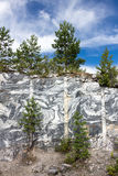 Slice of marble rocks. Marble quarry Stock Photography