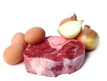 Slice of meat Stock Photography